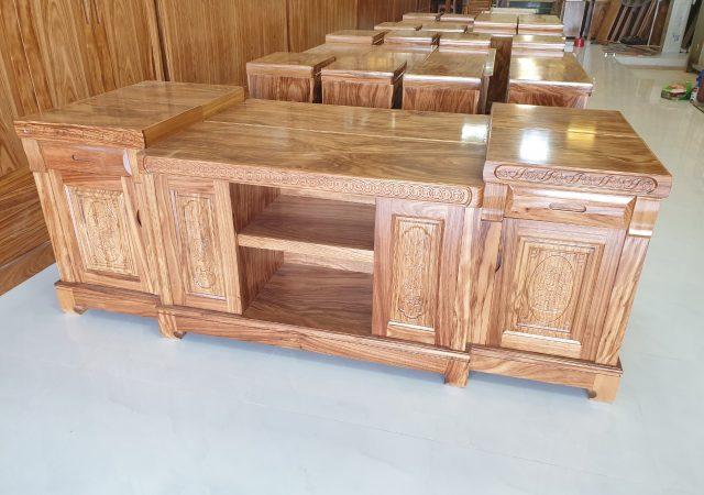 Kệ tivi gỗ tự nhiên - đồ gỗ đẹp Thanh Hóa
